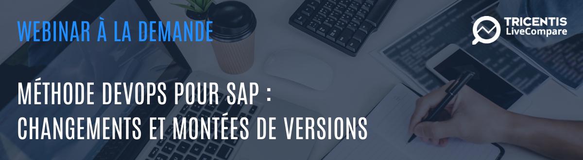 montées de version SAP