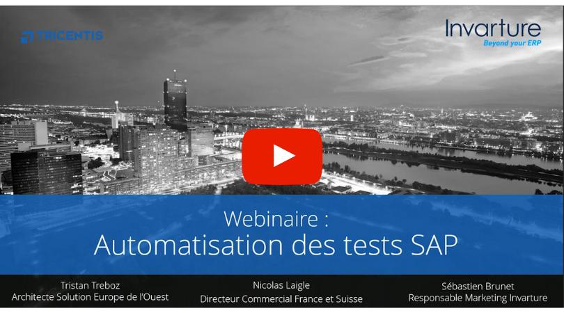 Webinar Tosca automatisation des tests